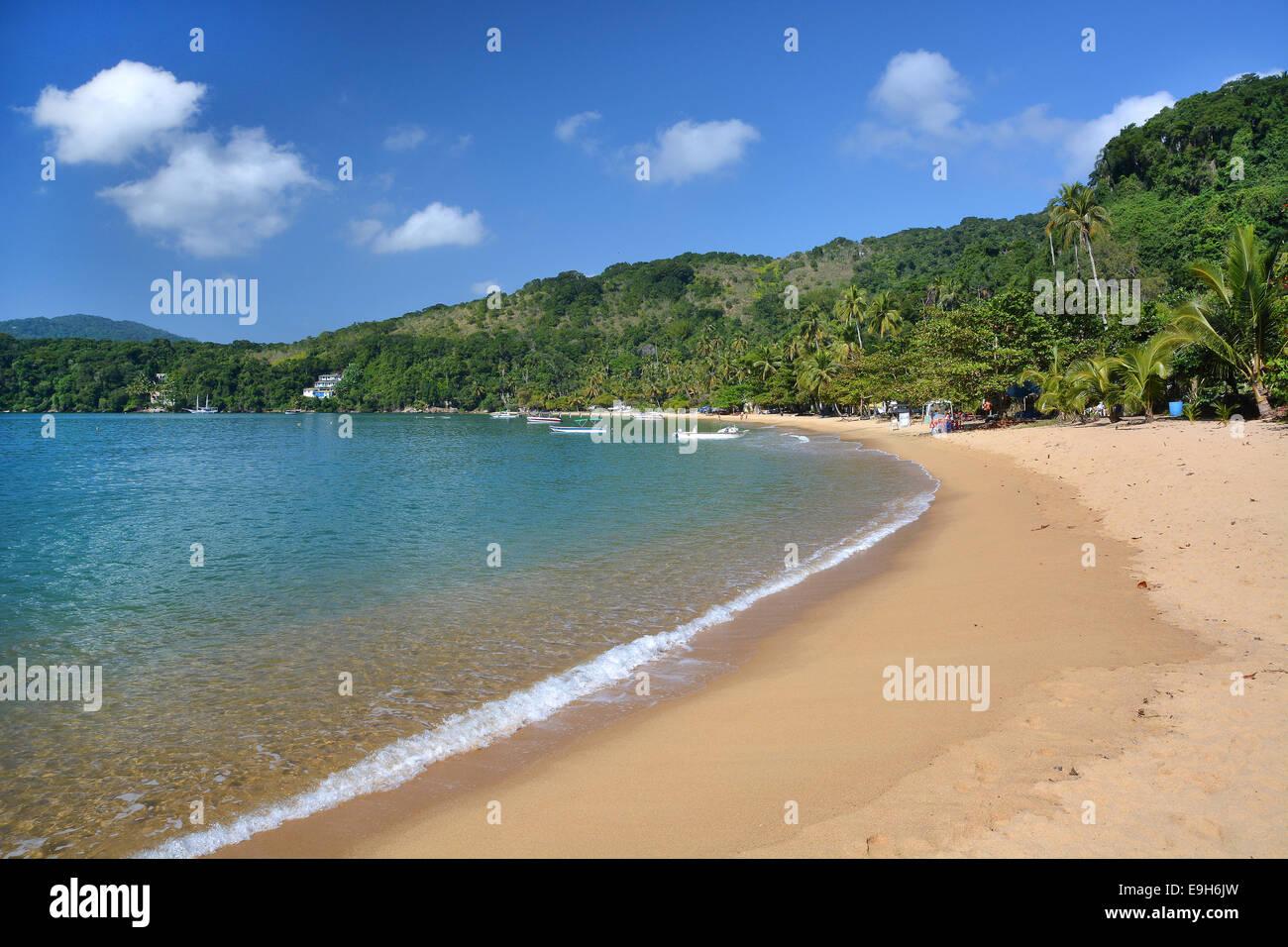 Lopes mendes beach, Angra dos Reis, Ilha Grande, stato di Rio de janeiro, Brasile Immagini Stock