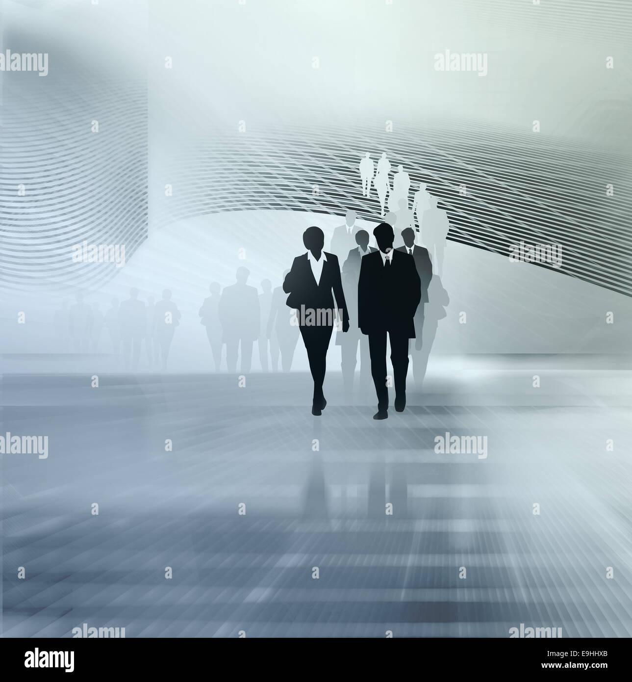 Persone illustrazione di business Immagini Stock
