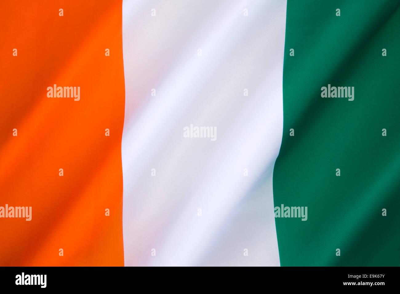 Bandiera della Costa d Avorio Immagini Stock