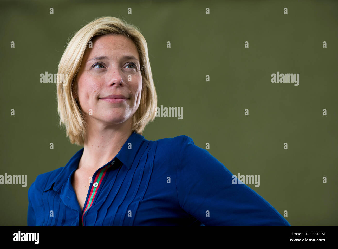 Lo scrittore norvegese Dea Brovig appare in Edinburgh International Book Festival. Immagini Stock