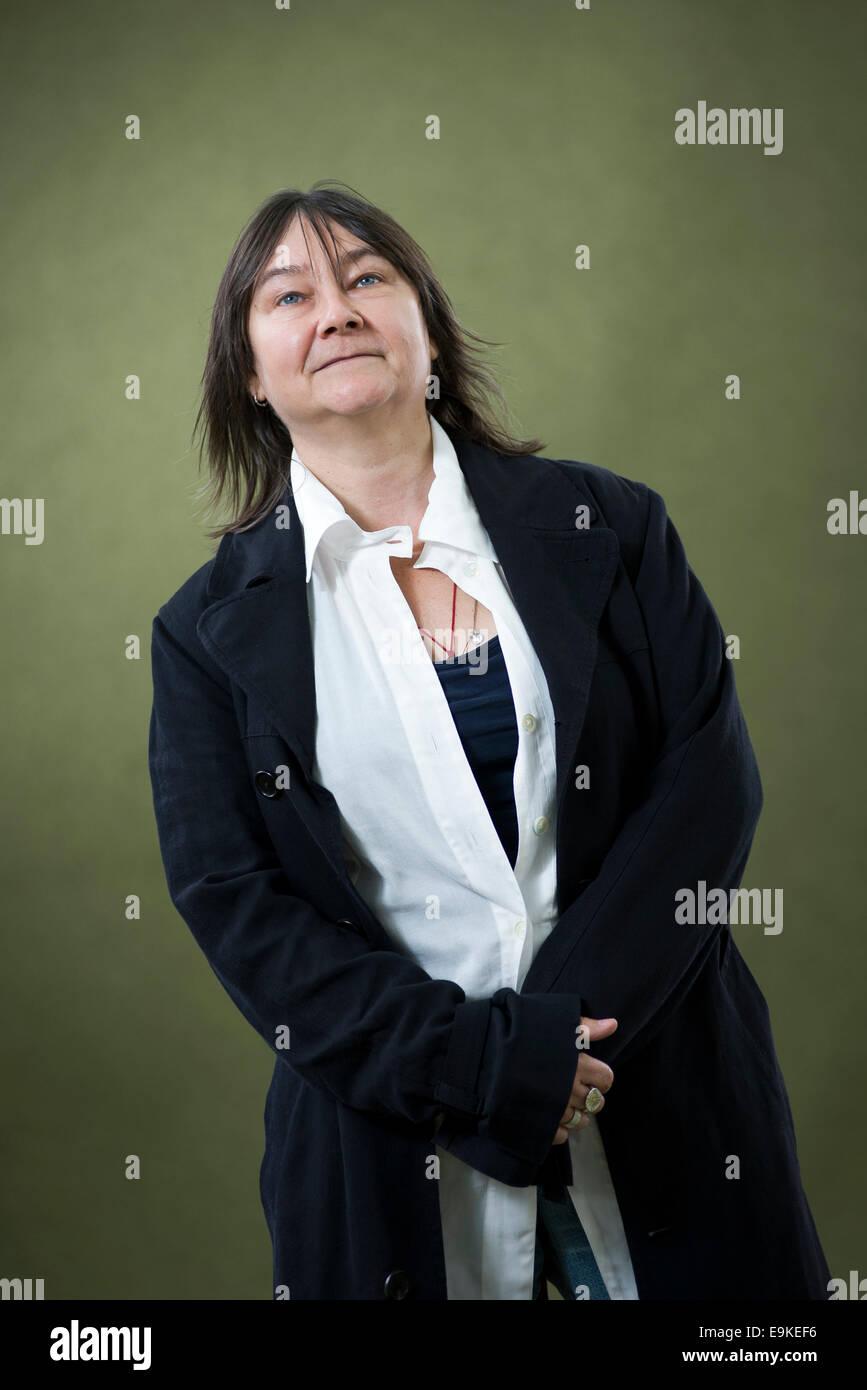 Scrittore scozzese Ali Smith FRSL, appare al Edinburgh International Book Festival. Immagini Stock