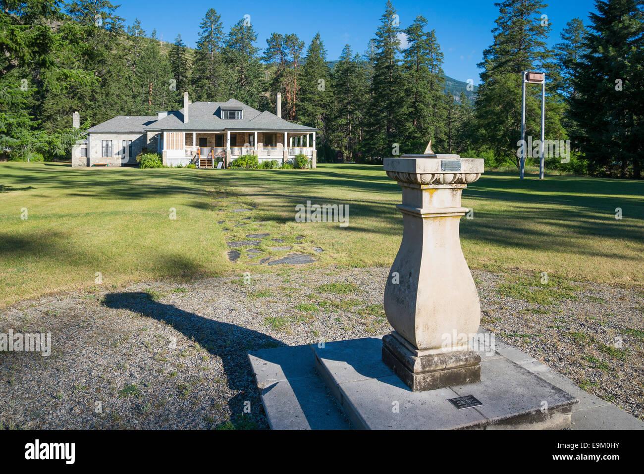 Fintry storico maniero e solare, Fintry Parco Provinciale, Okanagan Valley, British Columbia, Canada Immagini Stock