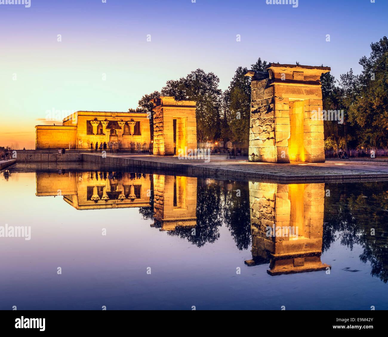 Tempio Debod a Madrid, Spagna. Immagini Stock