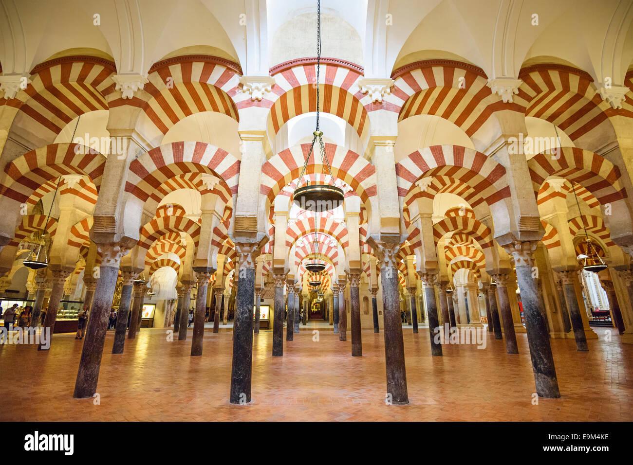 Cordoba, Spagna Moschea-cattedrale. Immagini Stock