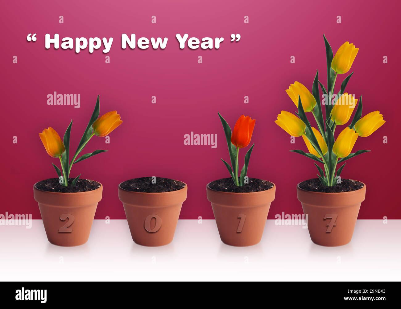 Felice Anno Nuovo Immagini Stock