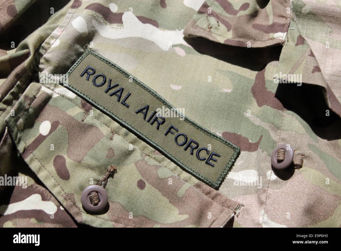 Close-up di RAF uniforme militare Immagini Stock