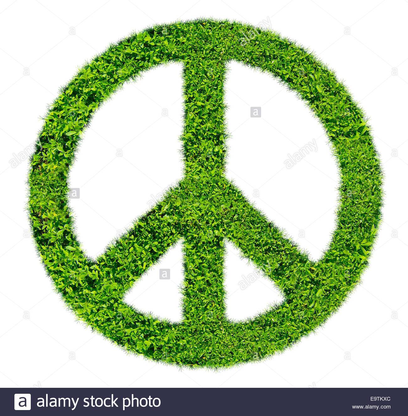 La pace - erba verde simbolo icona logo Immagini Stock