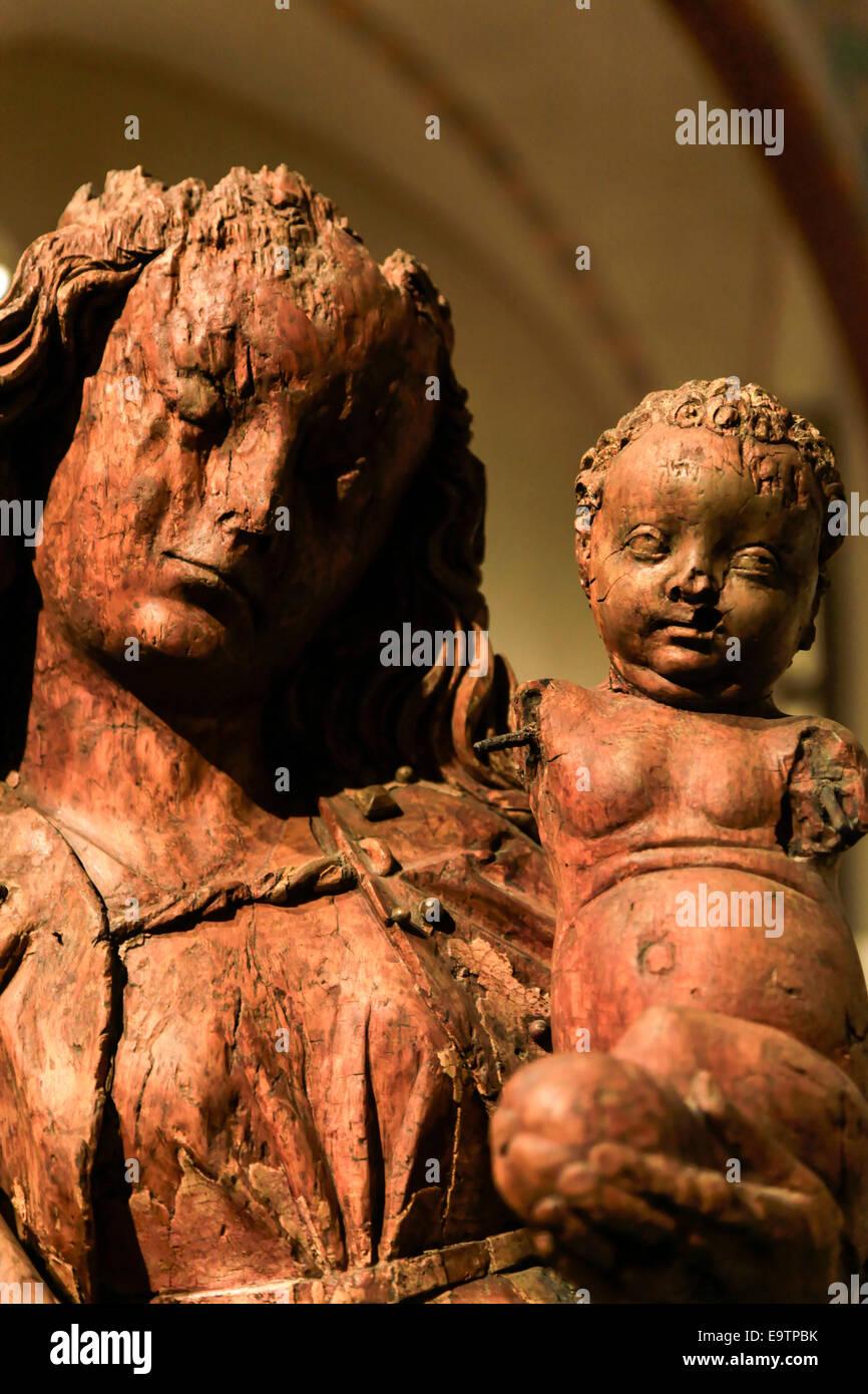Malbork (Marienburg) Castello Polonia arte religiosa Immagini Stock