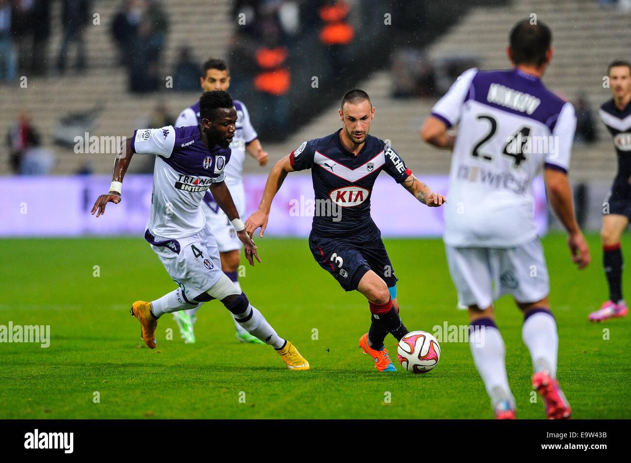 Bordeaux, Francia. 02Nov, 2014. French League calcio 1. Bordeaux rispetto a Tolosa. Diego Contento (gir) Credito: Immagini Stock