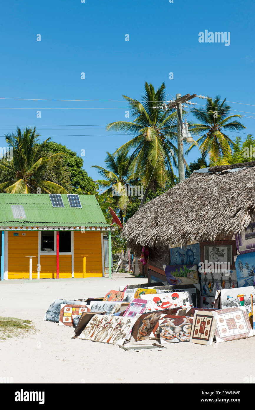Dominikanische republik, Osteno, Bayahibe, Parque Nacional del Este, insel saona, inseldorf mano juan Immagini Stock