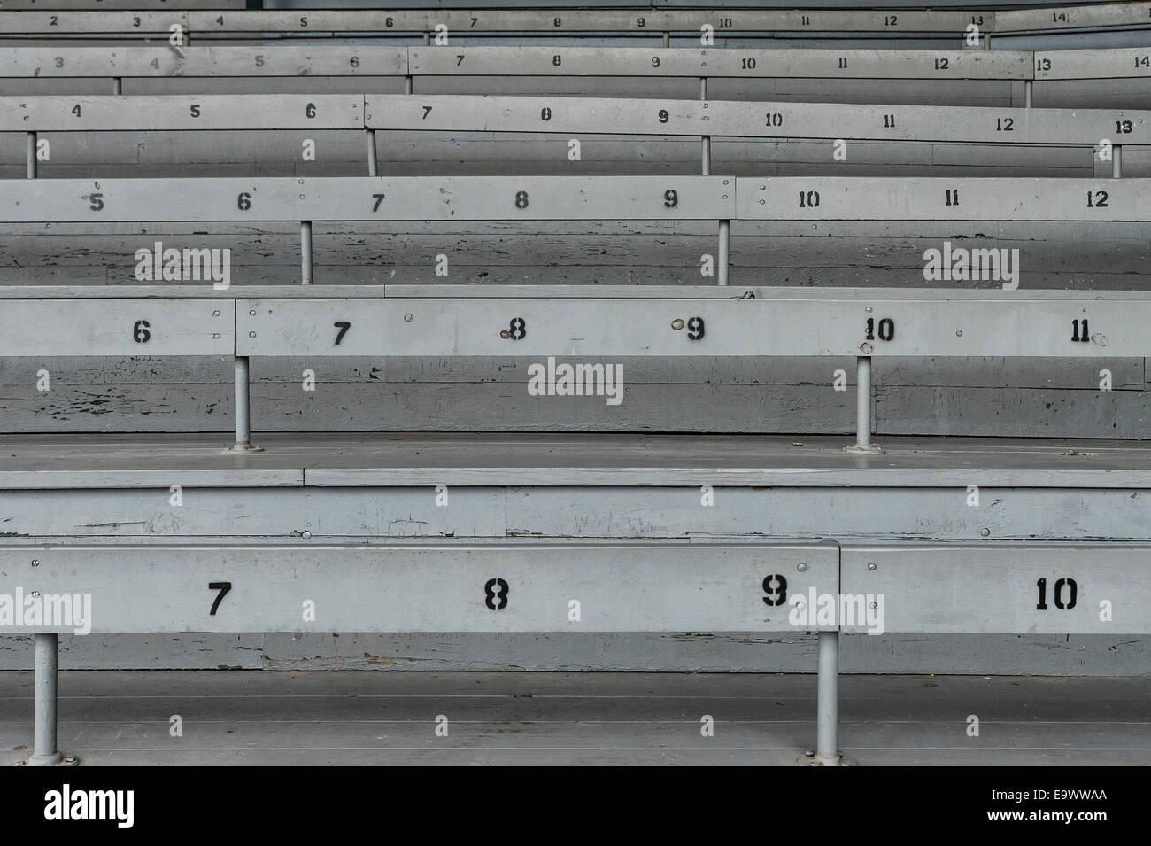 In vecchio stile baseball gradinate. Immagini Stock