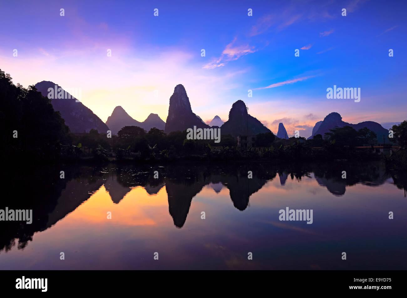 Paesaggi di Guilin Immagini Stock