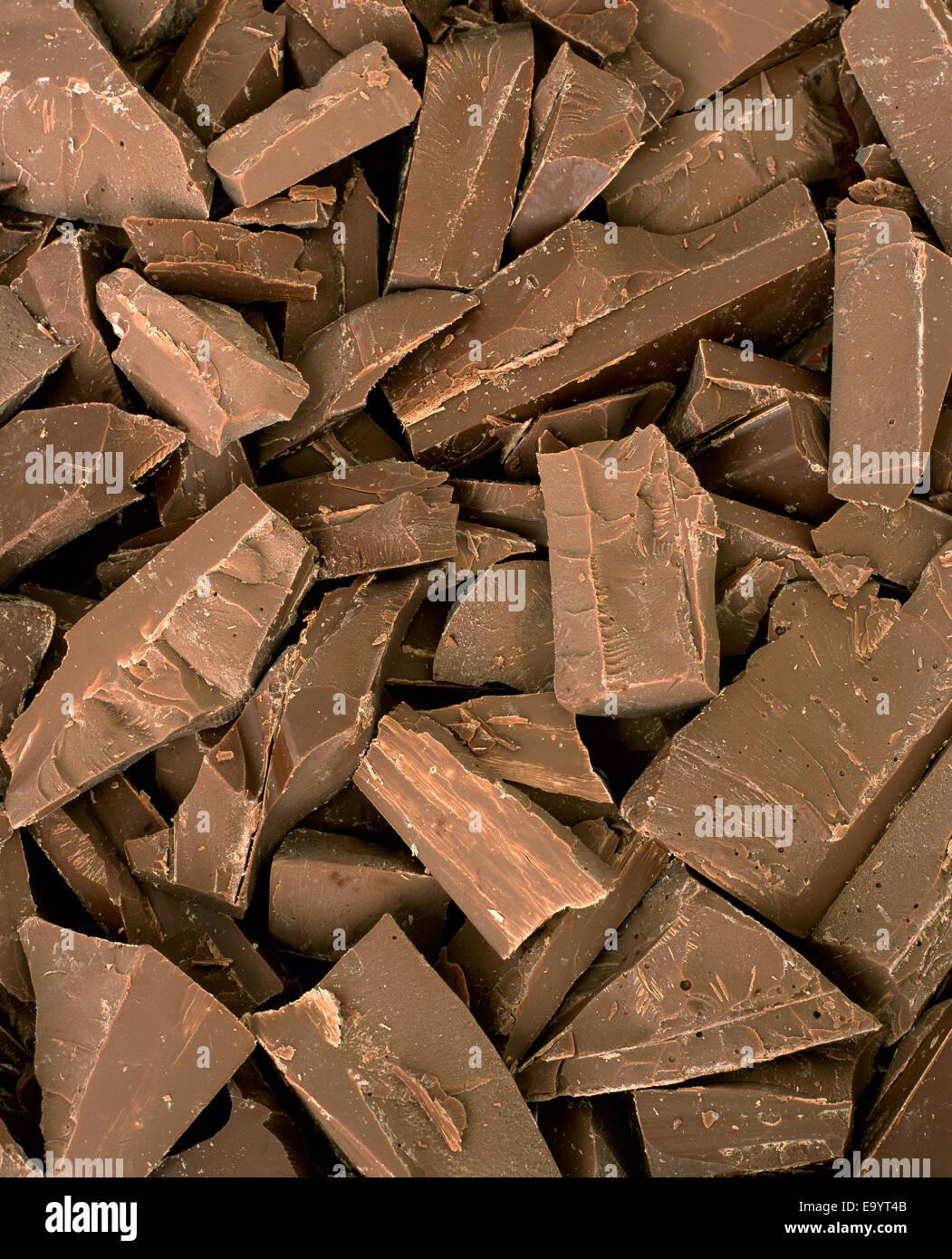 Pila di pezzi di cioccolato Immagini Stock