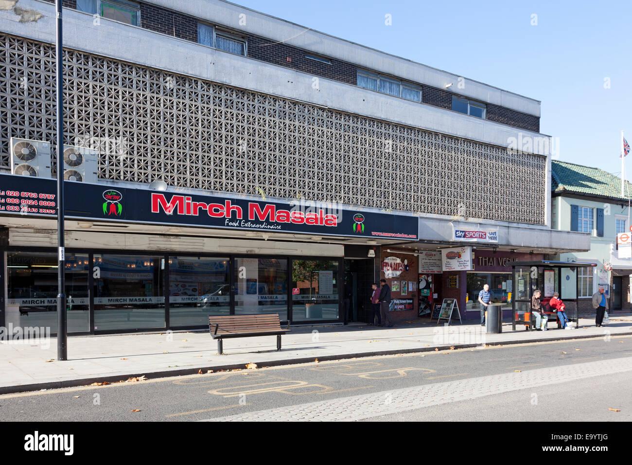 Mirch Masala ristorante pakistano, Coulsdon, Surrey Immagini Stock