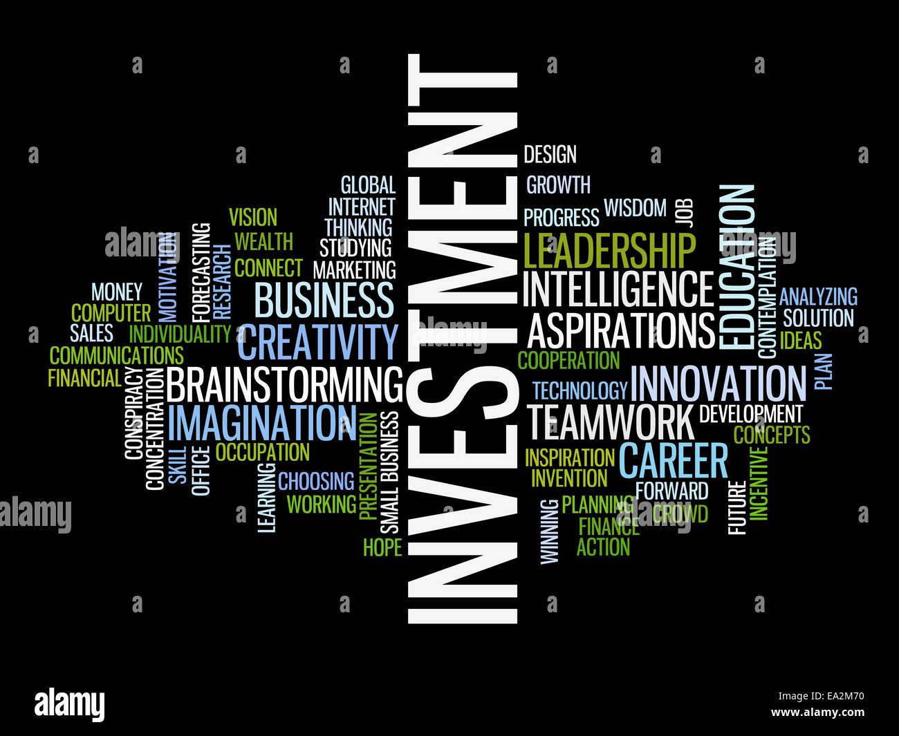 La strategia di investimento Concetto parola cloud Immagini Stock