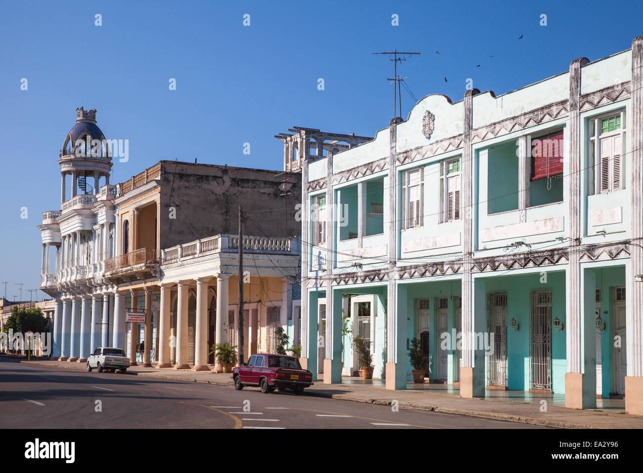 Casa de la Cultura Beniamino Duarte, ex Palacio de Ferrer, Parque Marta, Cienfuegos Cienfuegos, Provincia, Cuba Immagini Stock
