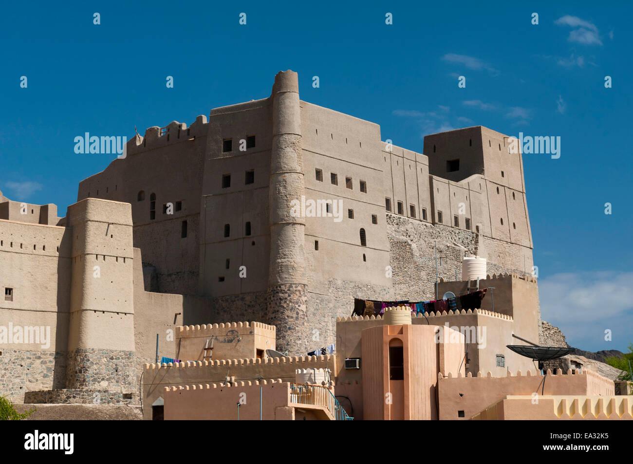 Bahla Fort, Sito Patrimonio Mondiale dell'UNESCO, Oman, Medio Oriente Immagini Stock