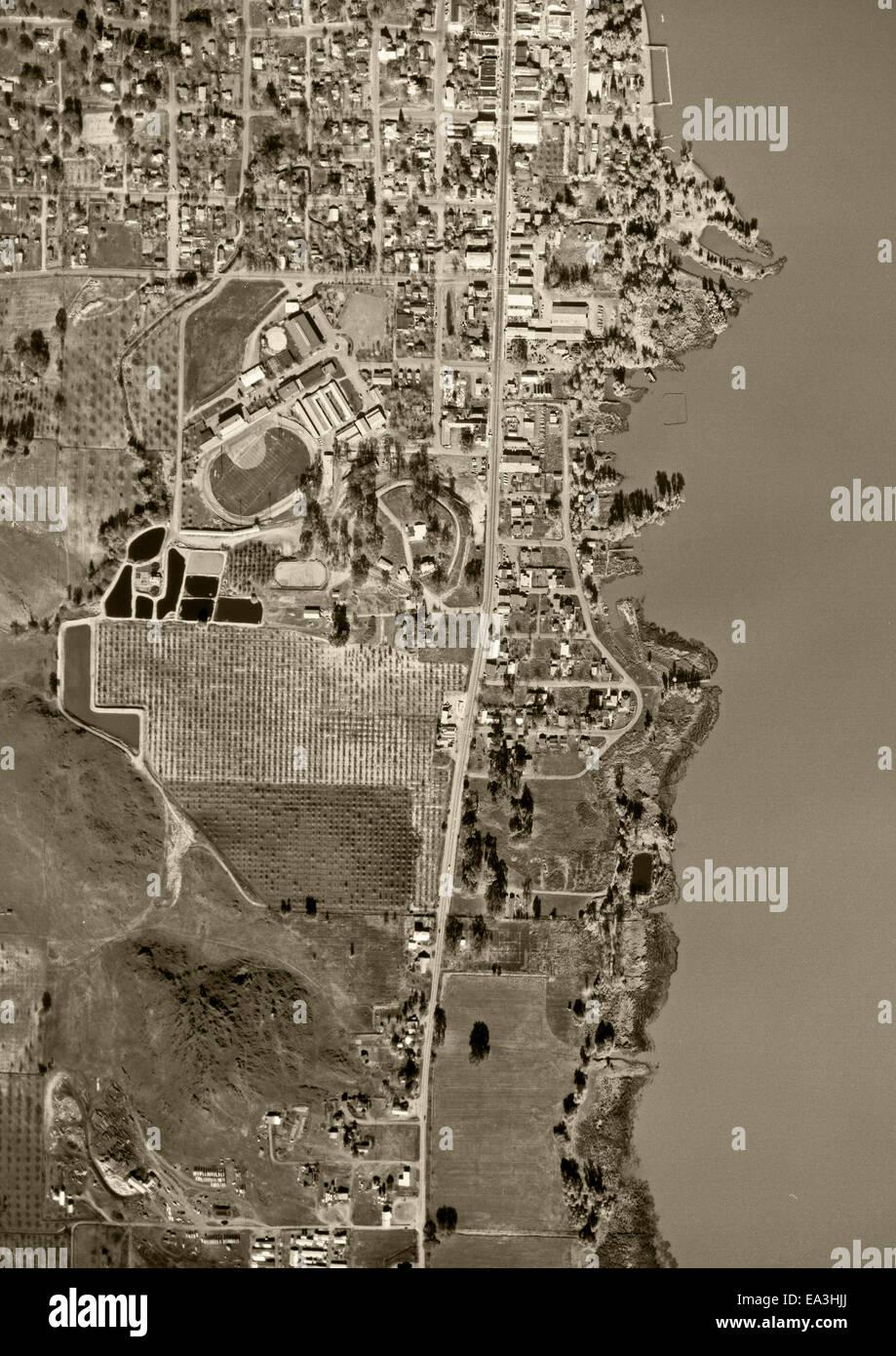 Storico fotografia aerea Immagini Stock