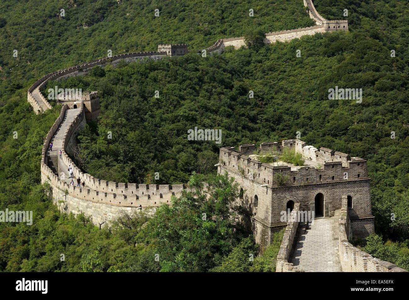 La Cina, il grande muro Immagini Stock