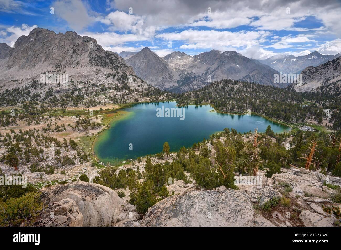 Stati Uniti, California, Ansel Adams Wilderness Area, Inyo National Forest, Spettacolare Bullfrog Lago Immagini Stock