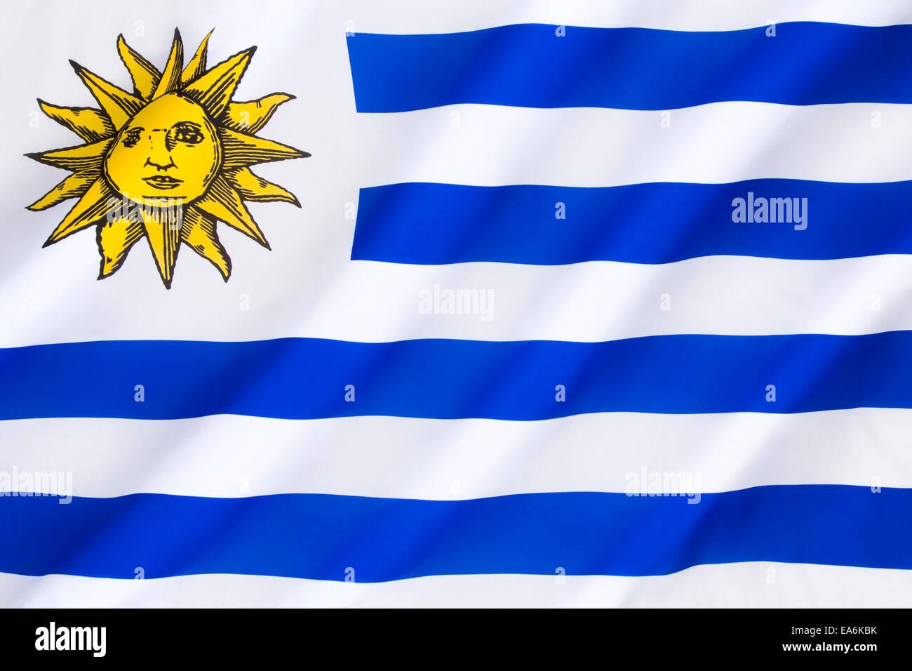 Bandiera dell'Uruguay Immagini Stock