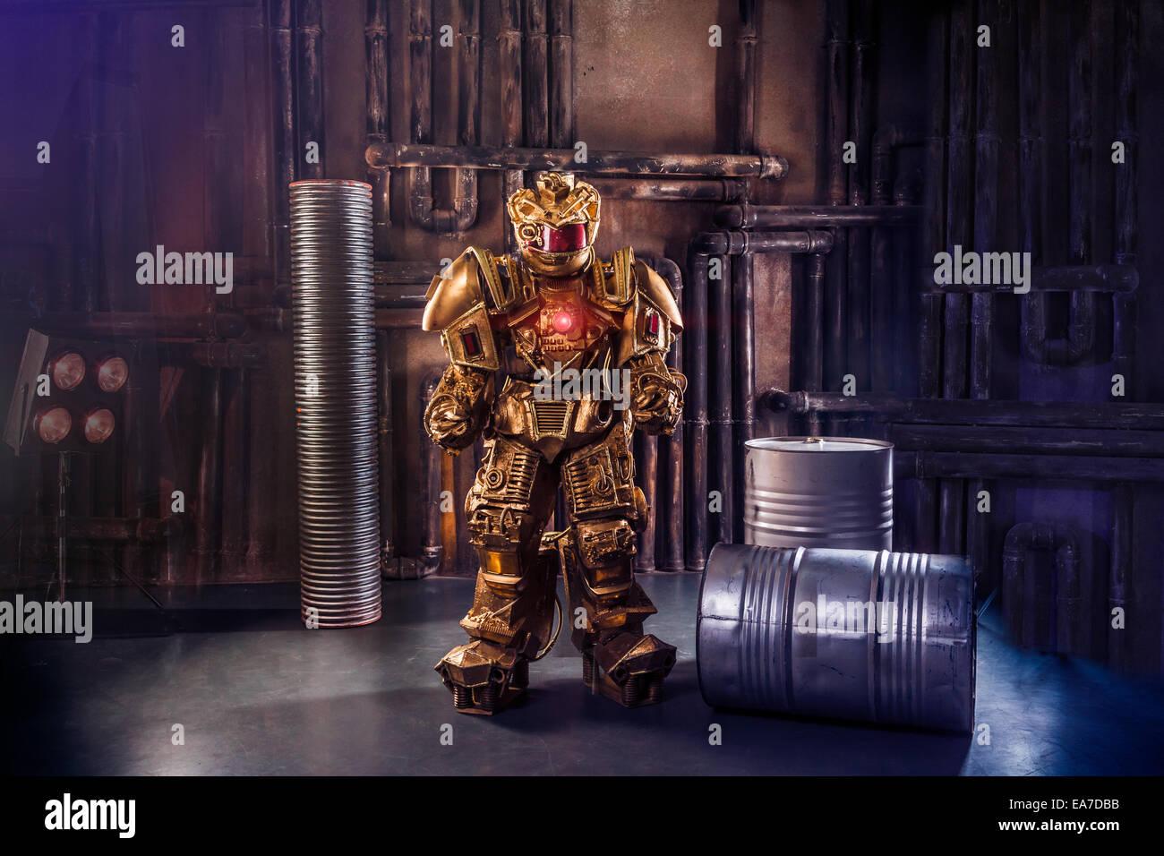 Robot futuristici Immagini Stock
