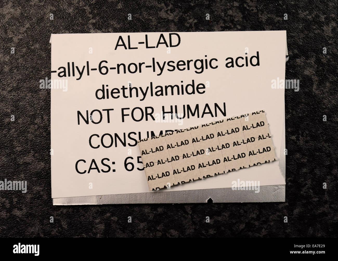 AL-LAD [6-allil-6-nor-LSD] Immagini Stock