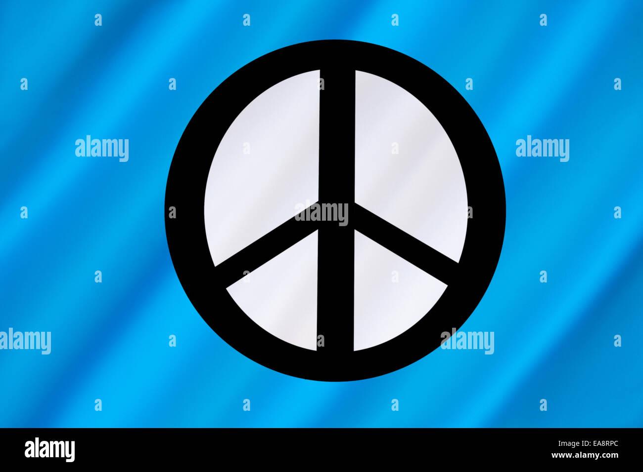 Bandiera della Campagna per il disarmo nucleare (CND) Immagini Stock