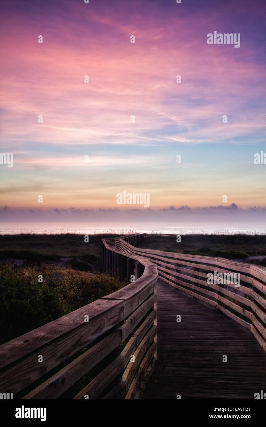 Trasognata alba Fernandina Beach, Florida Foto Stock