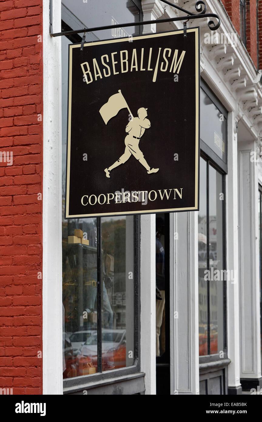 Città di baseball, Cooperstown, New York, Stati Uniti d'America Immagini Stock