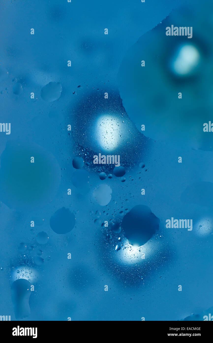 Blu sfondo astratto bolle di acqua Immagini Stock