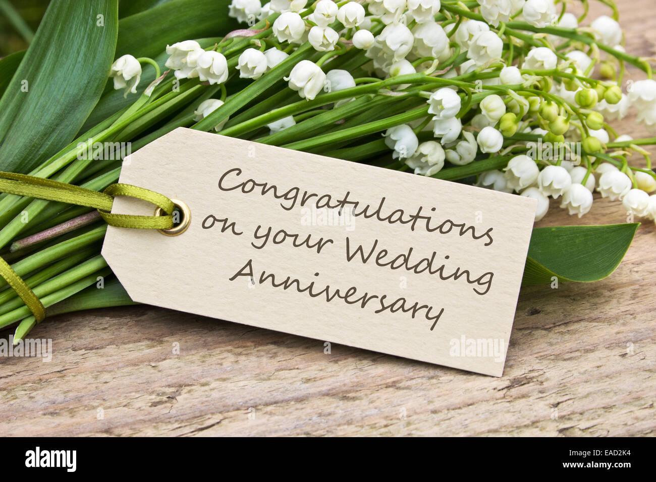 Anniversario Matrimonio In Inglese.Inglese Anniversario Di Matrimonio Scheda Con Il Giglio Della