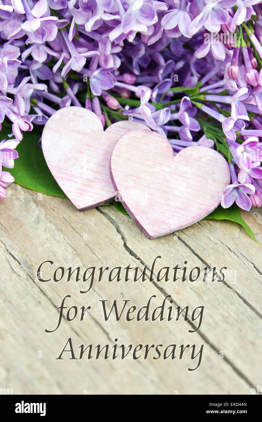 Anniversario Matrimonio In Inglese.Inglese Anniversario Di Matrimonio Scheda Con Il Lilla Foto