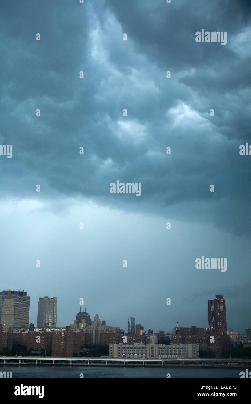 Condizioni meteorologiche estreme su New York City Immagini Stock