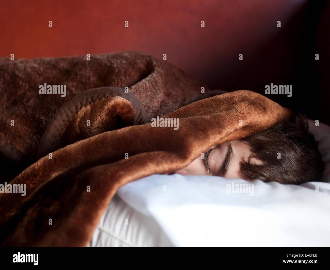 Sleeping boy Immagini Stock