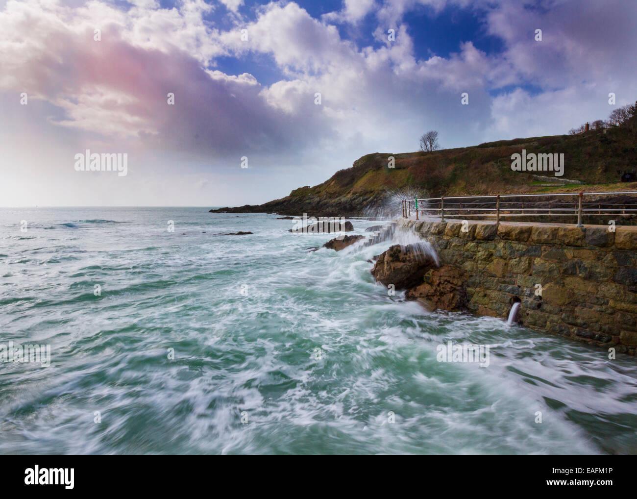 Scena costiere a Guernsey Isole del Canale della Manica UK Immagini Stock