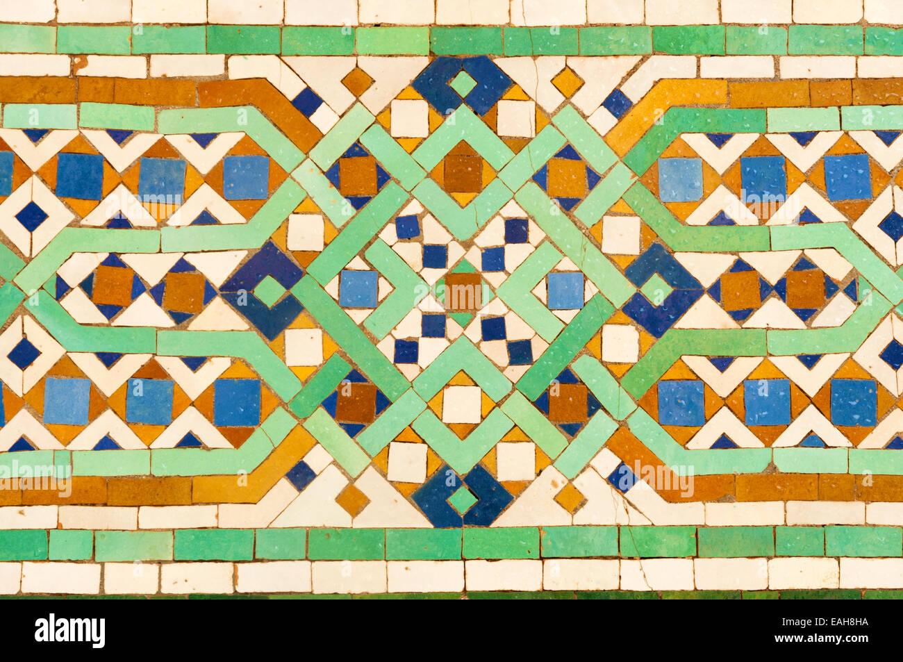 Oriental decorazione a mosaico in marocco foto & immagine stock