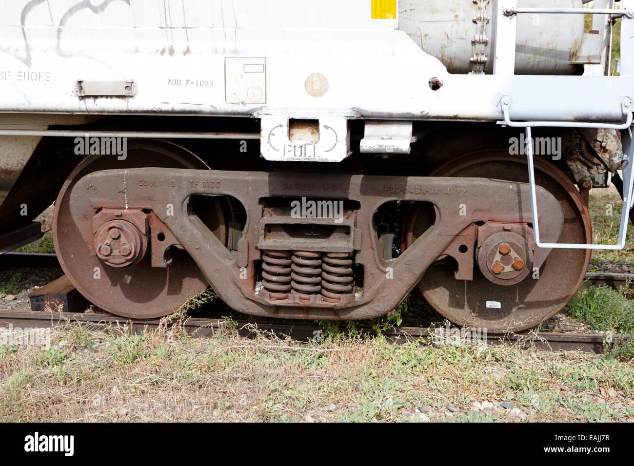 Barbiere s-2 smorzata variabile vagoni ferroviari su una petroliera di nolo Saskatchewan Canada Immagini Stock