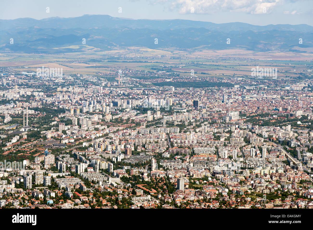 Vista Di Sofia Dal Monte Vitosha Bulgaria Foto Immagine Stock