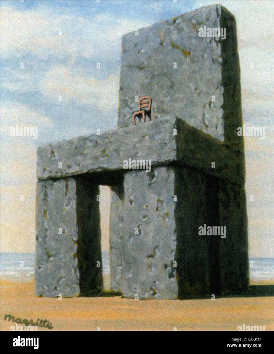 René Magritte La Leggenda dei secoli Immagini Stock