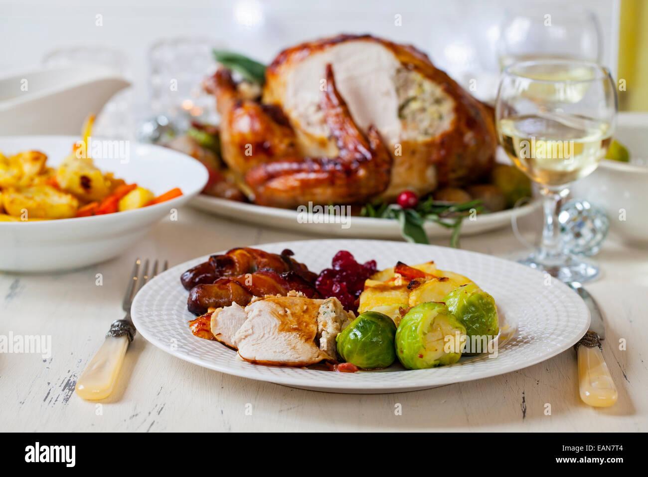Cena di Natale Immagini Stock