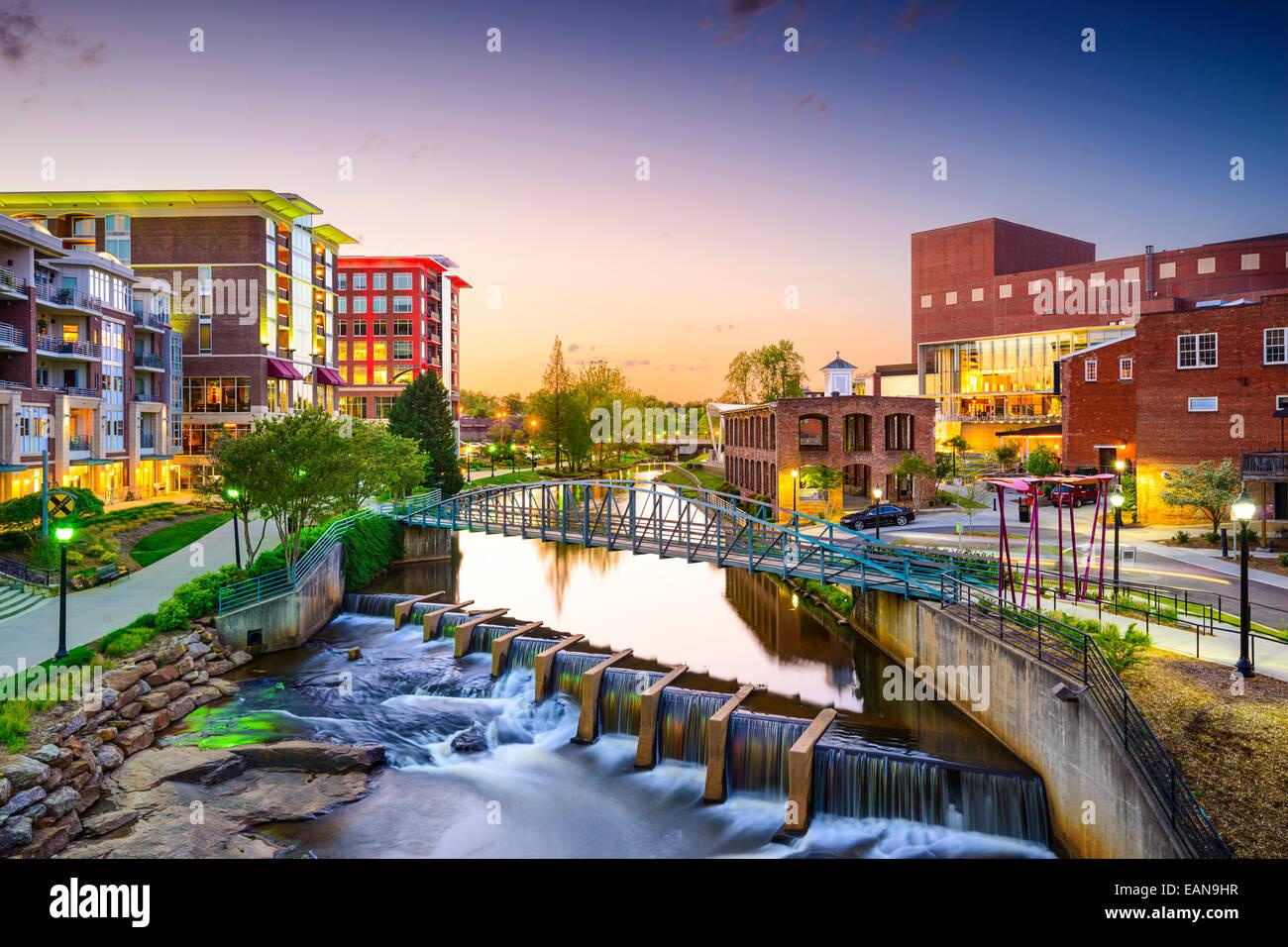Greenville, South Carolina città cityscape Immagini Stock