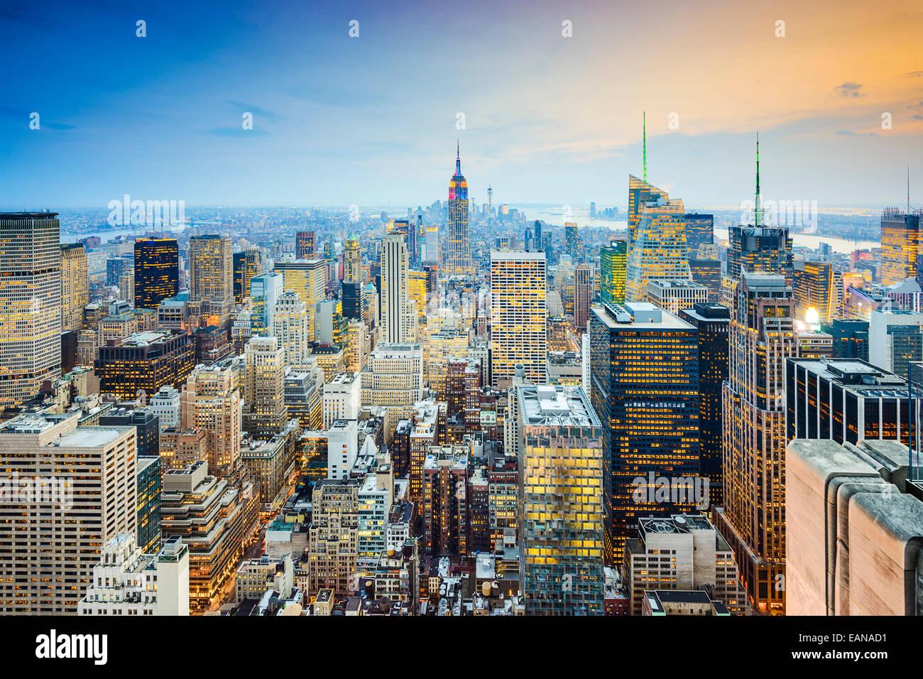 New York City skyline di Manhattan. Immagini Stock