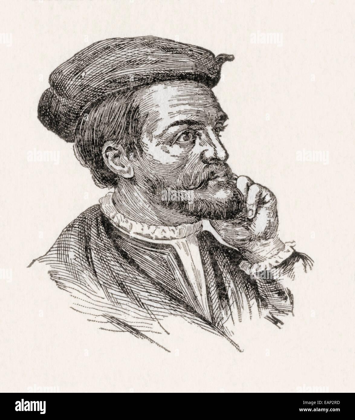 Jacques Cartier, 1491 - 1557. navigatore francese e di explorer. Immagini Stock
