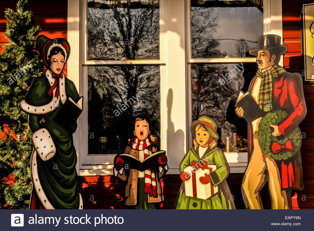 Immagini Natale Vittoriano.Caroling Vintage Natale Vittoriano Di Visualizzazione Di Scena All