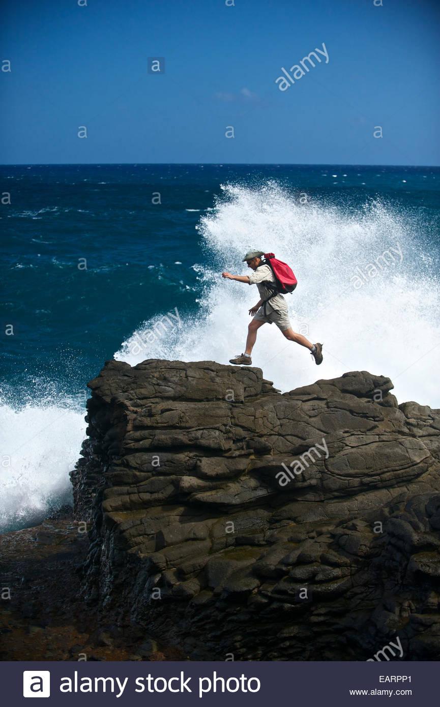 Saltando il Carib mitologici 'Snake scalinata dell'. Immagini Stock