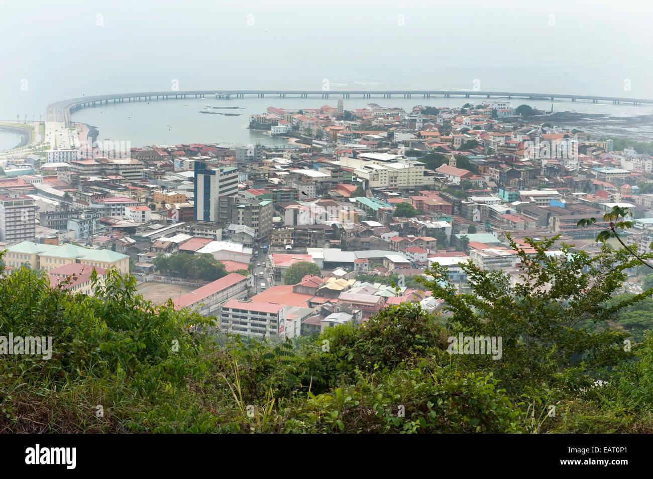 Vista della Città Vecchia di Panama Immagini Stock