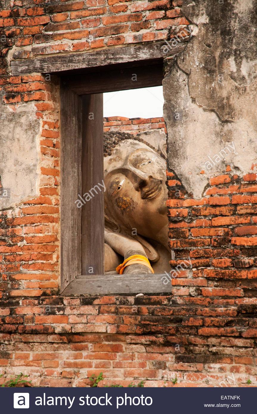 Un Buddha reclinato presso il monastero di Buddha Signore del cielo. Immagini Stock