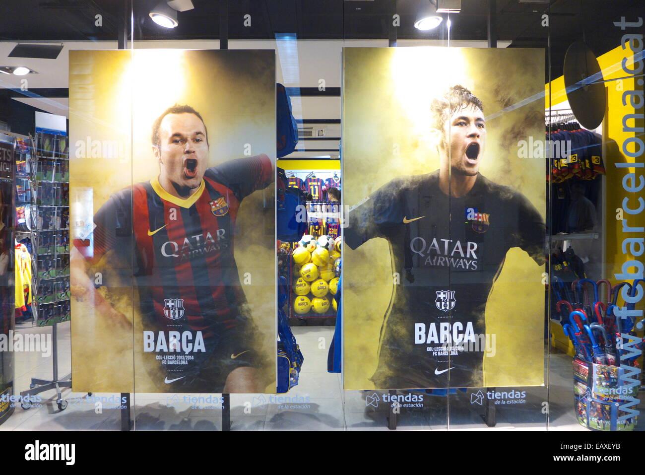 Spagna Catalogna BARCELONA FC Barcellona Fan club negozio di souvenirs  Immagini Stock 43f27352428