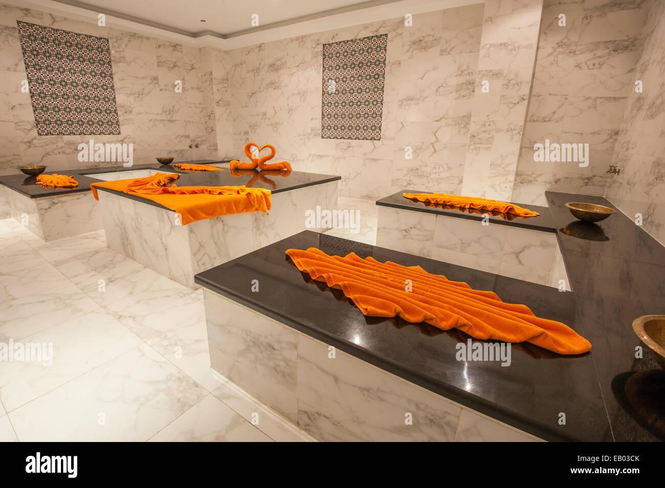 Grande bagno turco hammam bagno nella spa di lusso foto & immagine